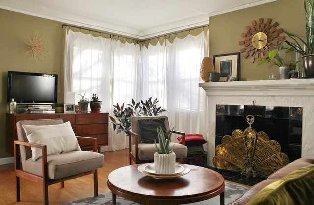 Portland Art Deco Funk eclectic-living-room