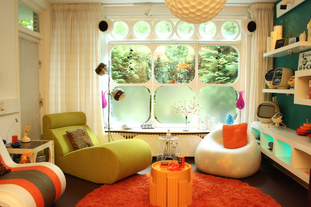 Charmant Small Trendy Enclosed Living Room Photo In Amsterdam