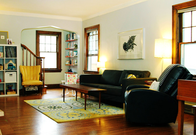 My Houzz: Professor's Art Filled Haven In The City contemporary-living-room