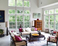My Houzz: Rockstar vibe meets New England dream home eclectic-living-room