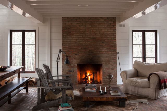 My Houzz Rustic Charm For A Sweet Quebec Cabin Living Room