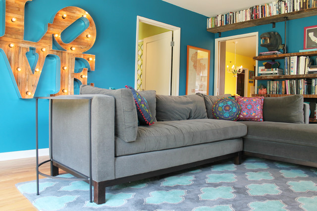 My Houzz Retro Flamingo Colors Brighten A Vintage Spanish Style Home Eclectic Living Room