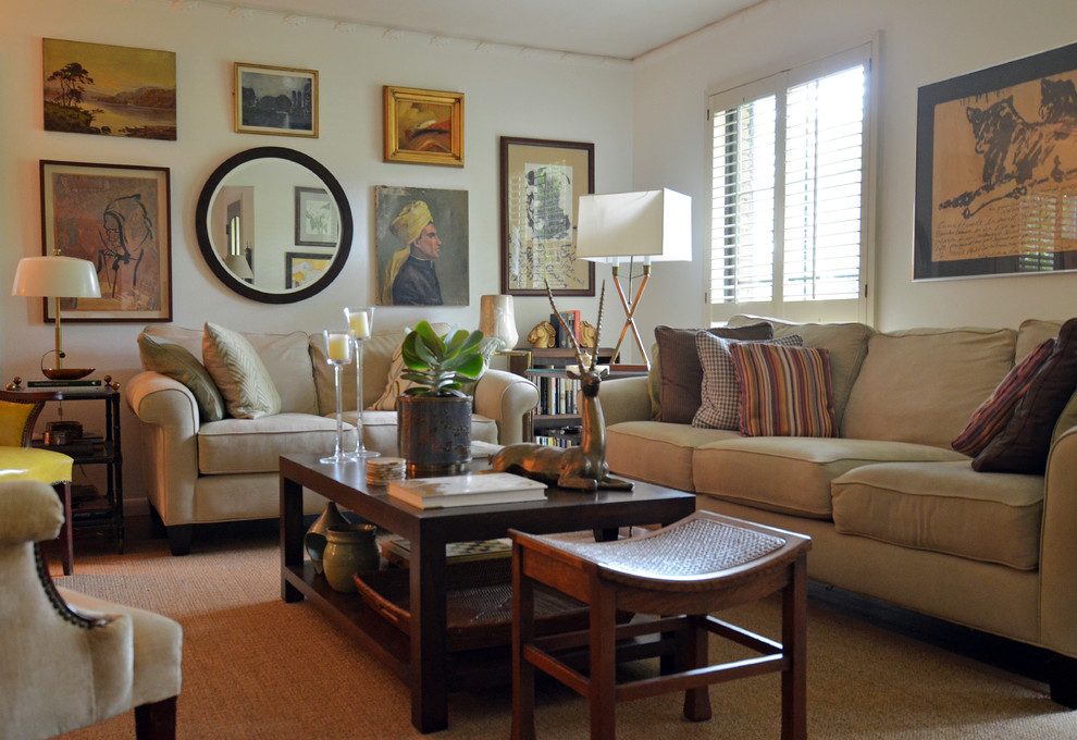 Inspiration for an eclectic living room remodel in Dallas
