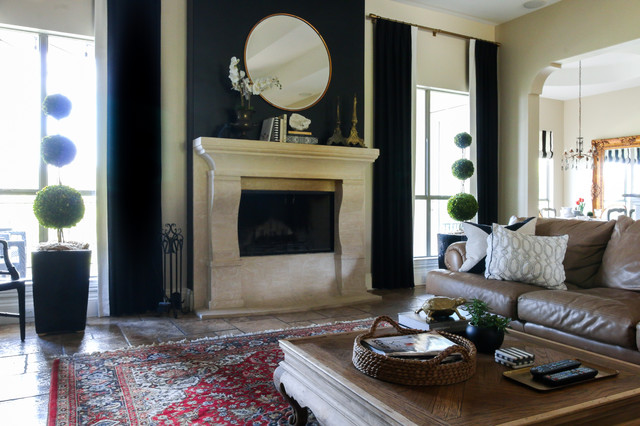 My Houzz Timeless Black And White Style In Texas