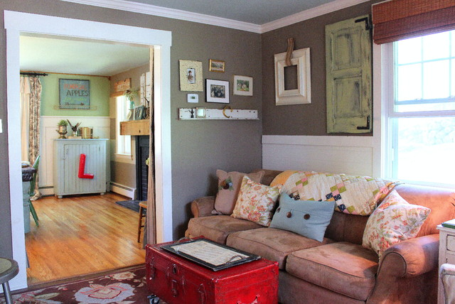 My Houzz Vintage Farmhouse Flair In The Philly Suburbs Country