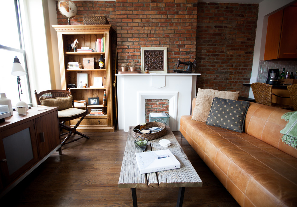 My Houzz Warm Industrial Style In A Brooklyn Apartment Industrial Living Room New York By Elaine Musiwa