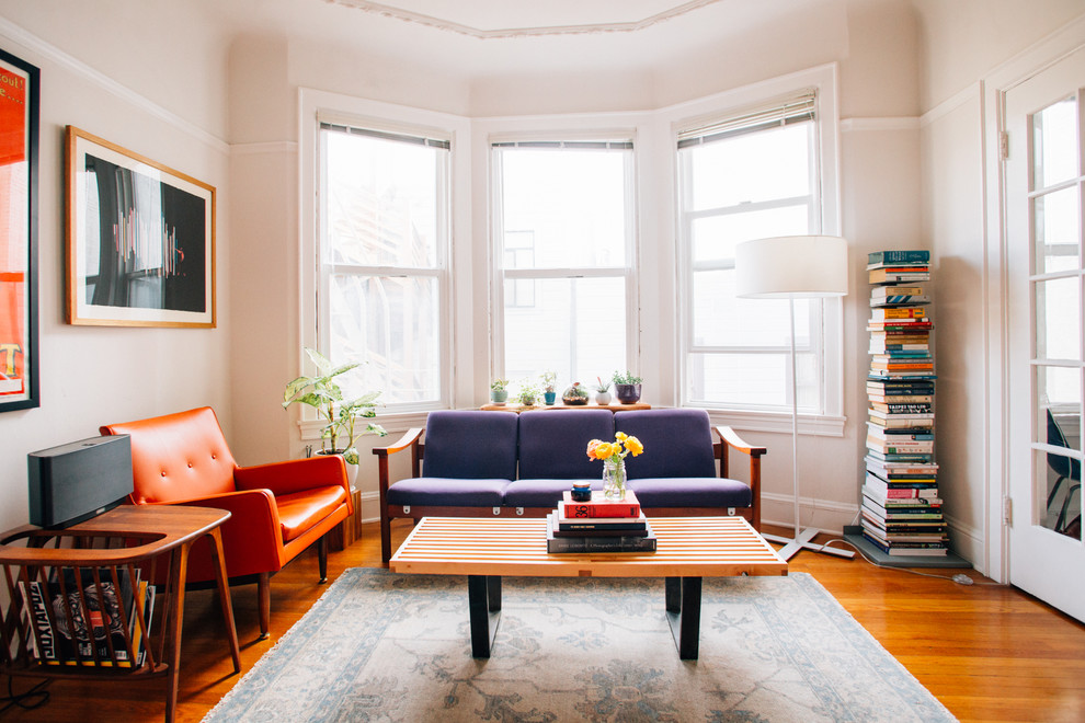 My Houzz Warmth And Style In 350 Square Feet Midcentury Living Room San Francisco By Nanette Wong