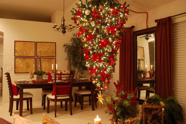 Upside Down Christmas Tree Tradition.My Upside Down Christmas Tree Traditional Living Room