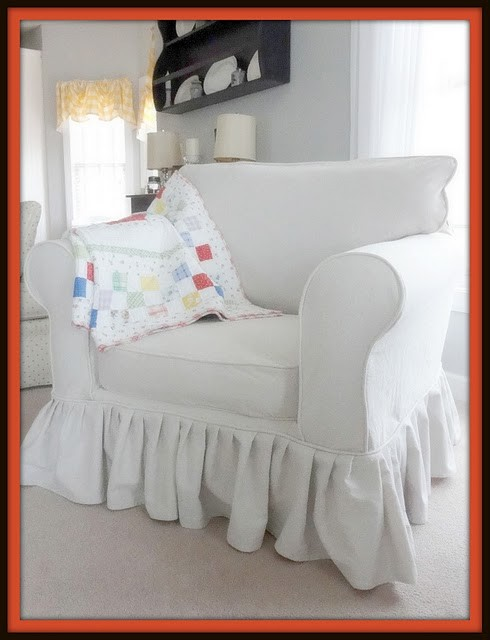 Drop Cloth Couch Slipcover