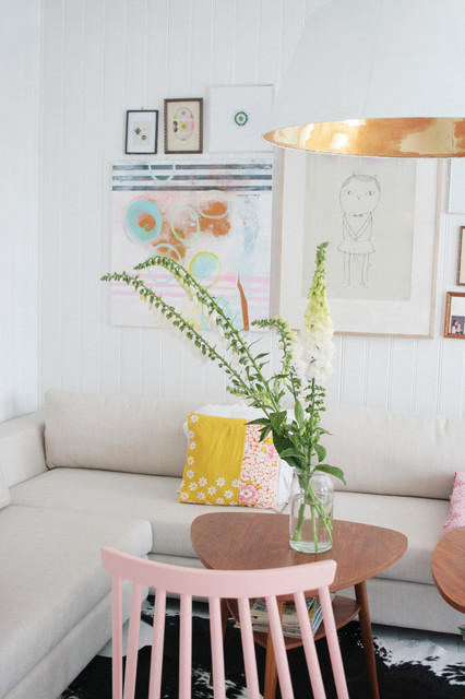 My white Scandinavian home. Splash of colors. Old & new. Always in change. eclectic-living-room