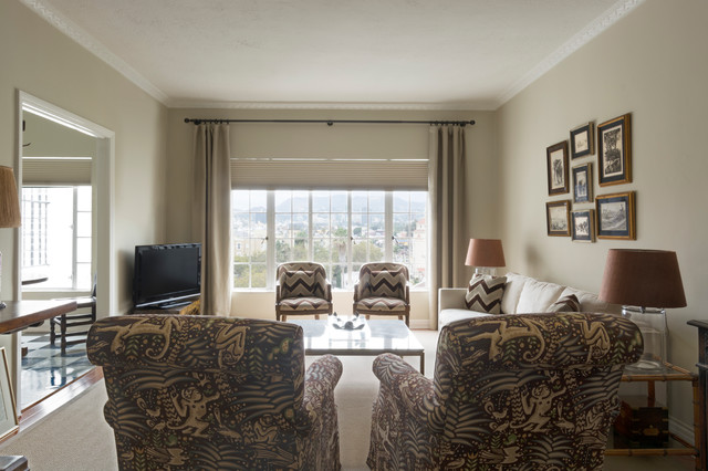 Myhouzz hollywood art deco apartment gets a personal for Living room 0325 hollywood