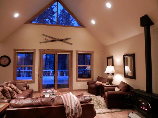 Mystic Mountain Montana- theme rooms traditional-living-room
