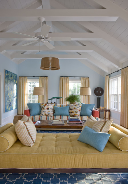 Nantucket Beach Cottage Eclectic Living Room New