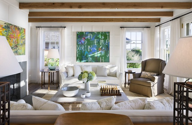 Nantucket Beach House Style Living Room