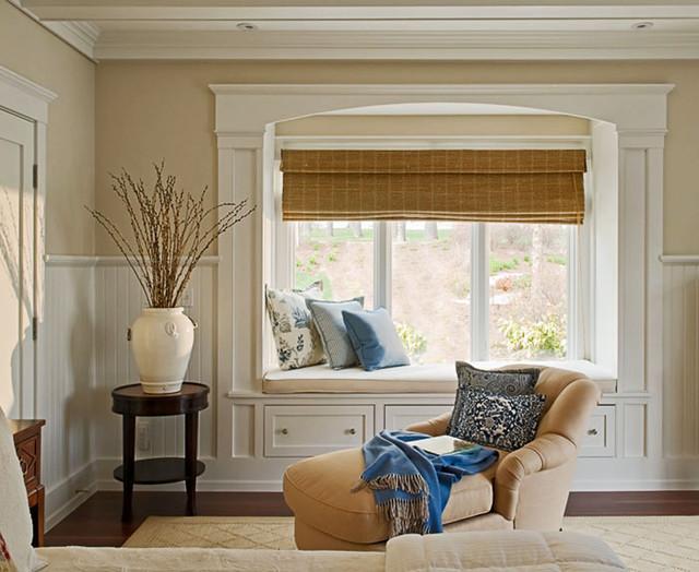 Nantucket Beadboard Traditional Living Room