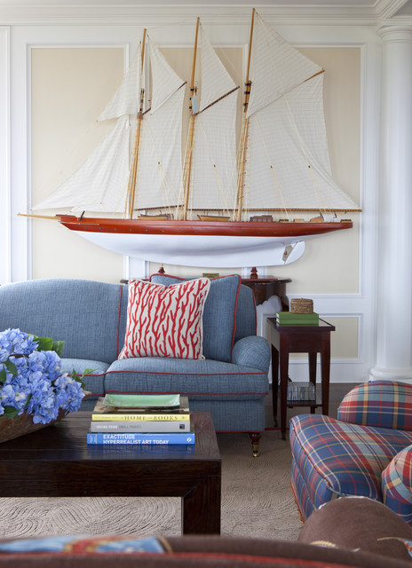 Nantucket Cliffs Traditional Living Room Other Metro By Jeannie Balsam Llc