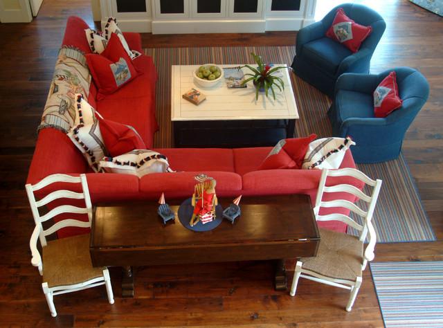 Nantucket in So Cal beach-style-living-room