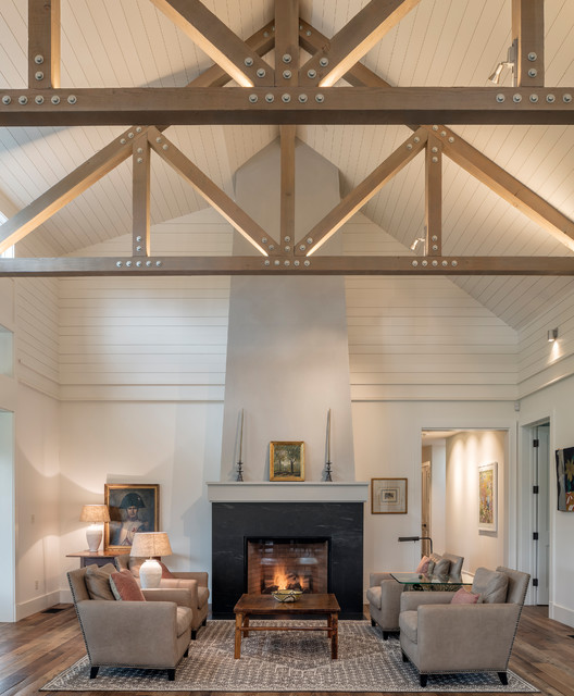 Napa Modern Farmhouse farmhouse-living-room