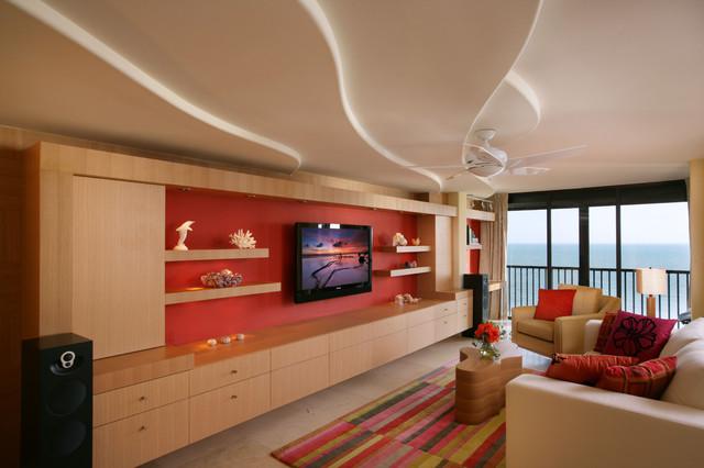 Naples Beach Condo Living Room