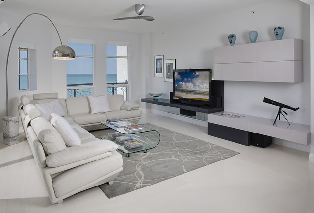 Naples Florida contemporary-living-room