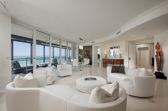 Naples Florida Contemporary Living Room