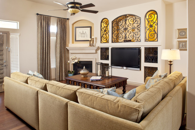 Naples residence great room traditional living room for Traditional great room designs