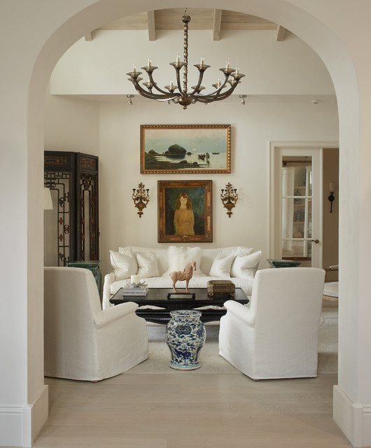 Naples Villa Mediterranean Living Room Bridgeport By Shelley Morris Interiors