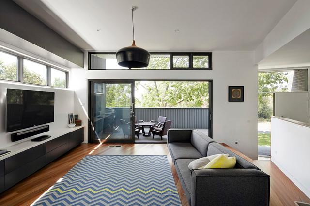 Narrabundah House - Contemporáneo - Salón - Melbourne - de Adam ...
