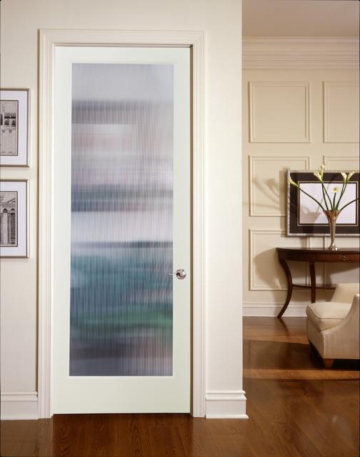Narrow Reed Decorative Glass Interior Door Gostinaya
