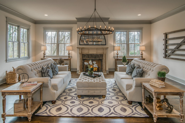 Nashville Staging - 849 Glendale Lane - Traditional - Living Room ...