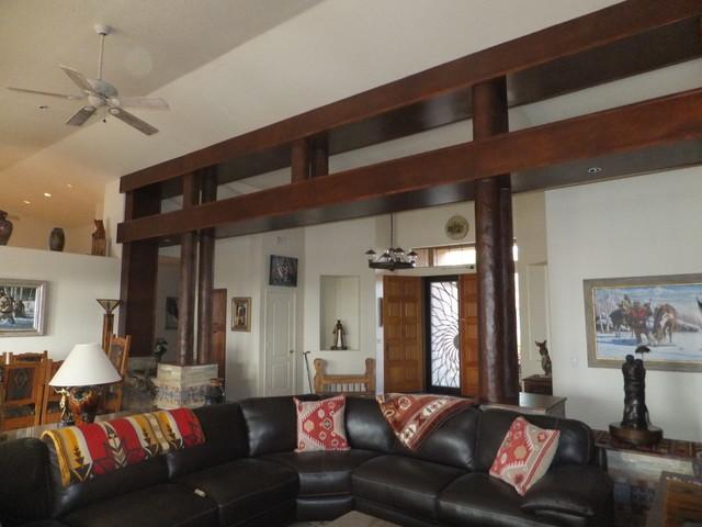 native american southwest rustic living room phoenix