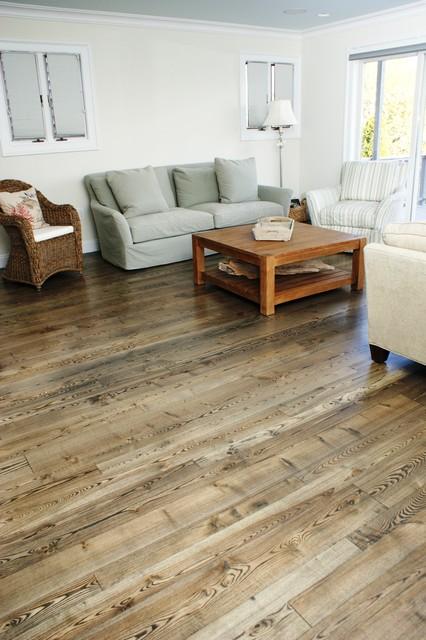 Natural ash wood flooring contemporary living room for Natural hardwood floors