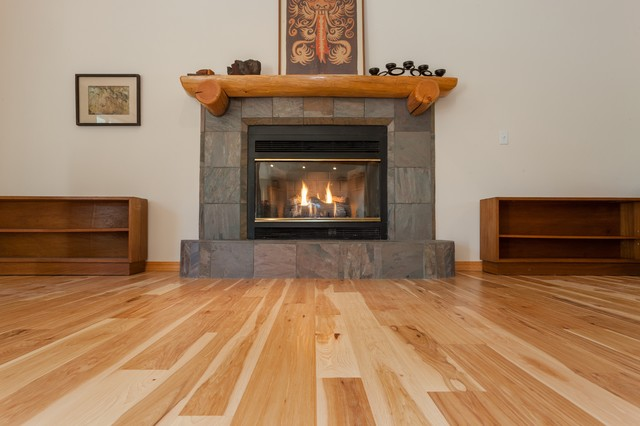 Natural Hickory Hardwood Floors Traditional Living