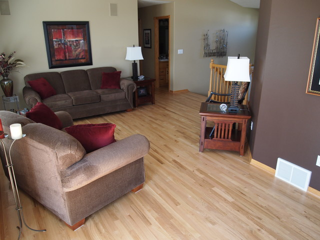 Natural red oak hardwood flooring for Natural red oak floors