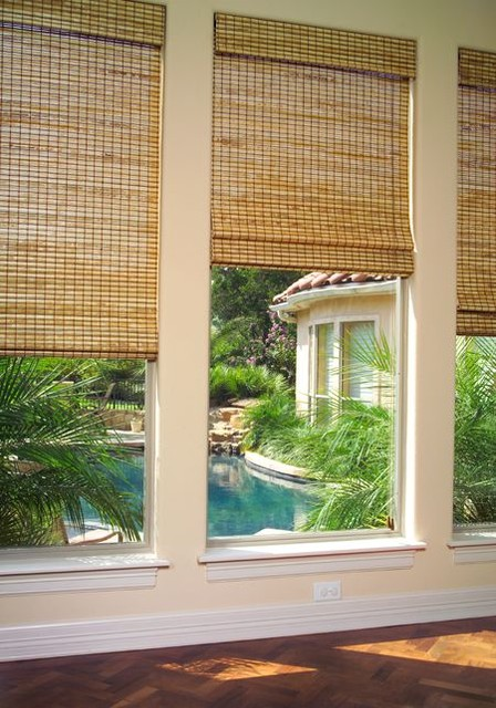 Natural Roman Shades - contemporary - roman blinds - austin - by ...