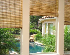 Natural Roman Shades contemporary-roman-blinds