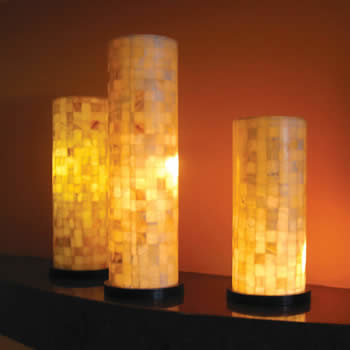 natural stone amber back lighted onyx lamps lighting