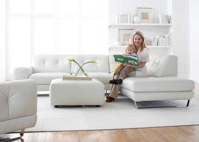 Natuzzi Editions Leather Sectional Sofa Modern Living