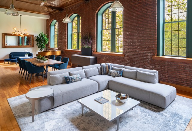 natuzzi sofa and furniture  industrial  living room