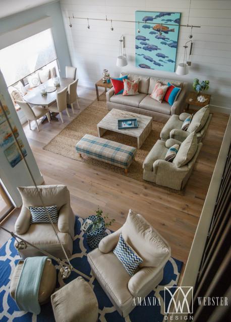 Nautical Beach Condo Beach Style Living Room Jacksonville By Amanda W