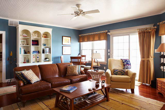Nautical Living Traditional Living Room Philadelphia