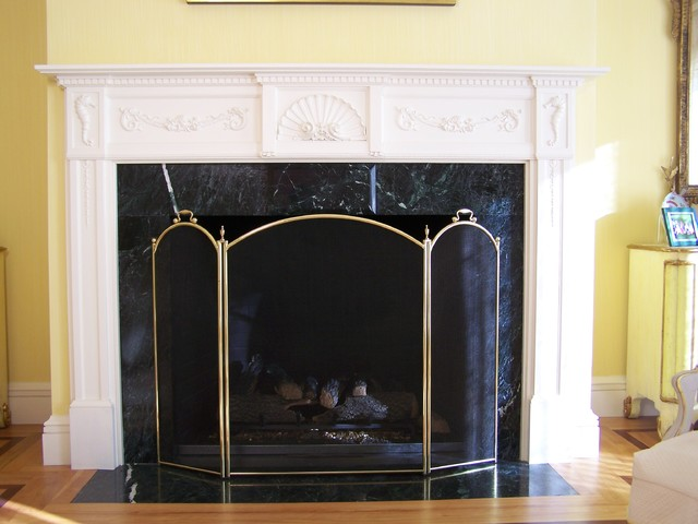 Nautical Themed Mantel - Eclectic - Living Room - boston - by G. B ...