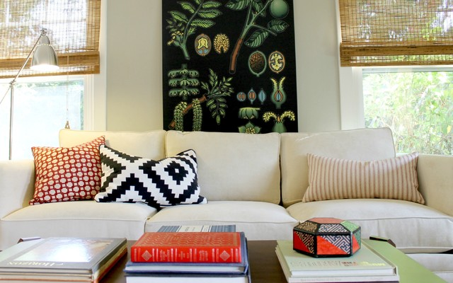 Navajo Pillow And Overscale Botanical Chart Traditional