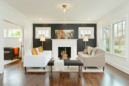 Benjamin Moore Paint Colour Dark Accent Wall Living Room