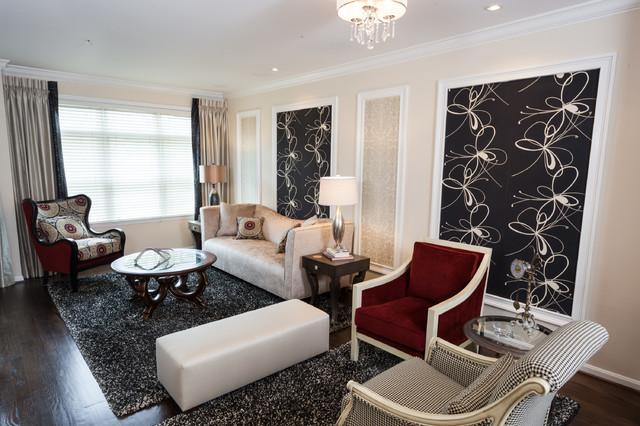 Neo Classical Decor In Reston Contemporary Living Room