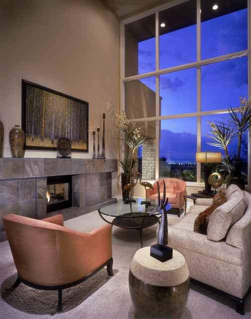 Nevada Henderson Transitional Living Room Las Vegas By Gayle Lee Company