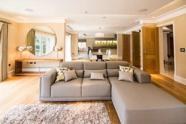 NEW BUILD IN HADLEY WOOD Contemporary Living Room Part 48