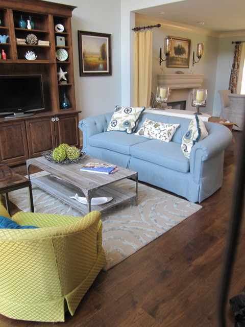 New Build On Lake Occonee beach-style-living-room