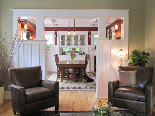 New colonnade - Craftsman - Living Room - Seattle - by Tim ...