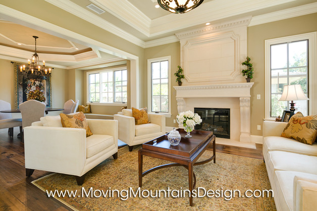 french country living room. New Construction Arcadia French Country Estate Home Staging mediterranean  living room